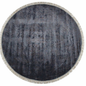 Kilimas Ekohali Venice KCS104 pilka ruda apvalus 150 cm