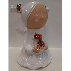 Angeliukas baltas mergaitė su kasytėmis