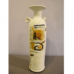 Vaza butelys baltas