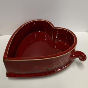 Dėžutė širdelė raudona