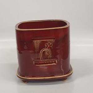 Kvadratinis vazonas mažas raudonas