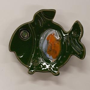 Žuvys padėkliukai maži žali