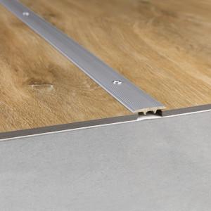 Sujungimo profilis vinilui Rigid NEVREXPCOMSILV, 36,5x2,5 mm, 2 m, Quick Step