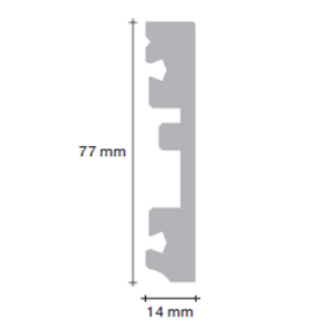 MDF grindjuostė PGPSK(-) Modern Plank kolekcijai, 14x77mm 2,4m, Pergo