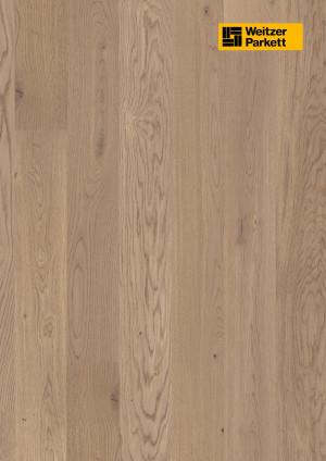 Parketlentės Weitzer parkett, Auster ąžuolas, lively, 65022, 1800x175x11, 1 juostos, Comfort plank kolekcija