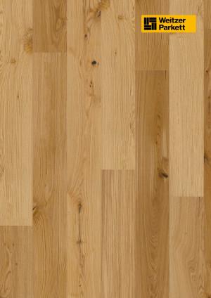 Parketlentės Weitzer parkett, natūralus ąžuolas, lively, alyva, 62042, 1800x175x11, 1 juostos, Comfort plank kolekcija