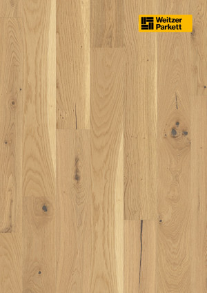 Parketlentės Weitzer parkett, Pure ąžuolas, rustic colourful, alyva, 62222, 1800x175x11, 1 juostos, Comfort plank kolekcija