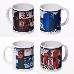"""Rinkinys """"Pušelė"""" (4vnt.): puodeliai su sublimaciniu atspaudu"""
