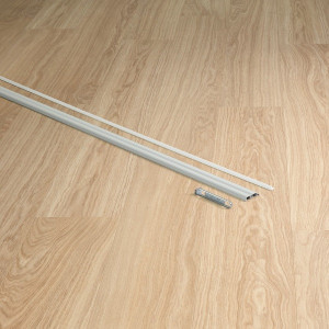 Metalinis profilis INCIZO QSINCPRSILVME270, 47,4x11,4mm 2,7m, Quick-Step