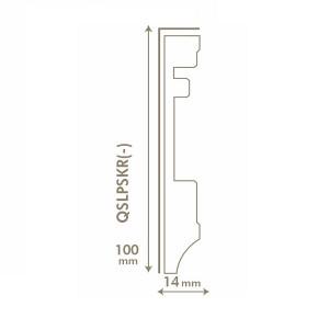 MDF grindjuostė QSLPSKR(-) Largo kolekcijai, 14x100mm 2,4m, Quick-Step