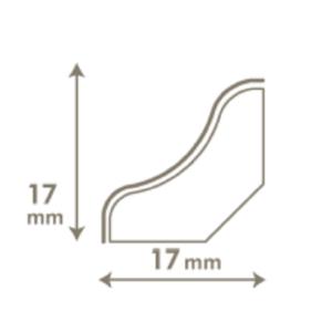 VINYL grindjuostė QSVSCOT(-) Alpha Medium planks kolekcijai, 17x17mm 2,4m, Quick-Step