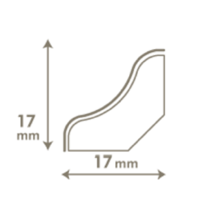 VINYL grindjuostė QSVSCOT(-) Alpha Small planks kolekcijai, 17x17mm 2,4m, Quick-Step