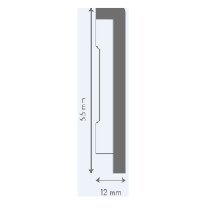 LIVYN grindjuostė QSVSKRB(-), 12x55mm 2m, Quick-Step