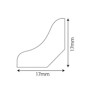 Faneruota grindjuostė QSWSCOT(-) Imperio kolekcijai, 17x17mm 2,4m, Quick-Step