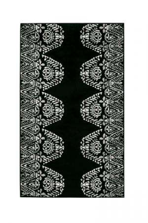 Kilimas Vallila Tulum shiny black white 68x110 cm