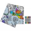 """Doodle staltiesė """"Pasaulio žemėlapis"""" 130*85 su spalvotais rašikliais"""