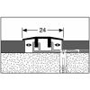 Profilis aliuminis, dangų sujungimui Design-Clip 578