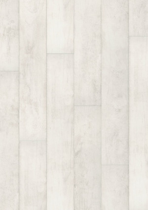Laminuotos grindys Quick-Step, blukintas baltas tikmedis, CLM1290H, 1200x190x8mm, 32 klasė, Classic HydroSeal kolekcija