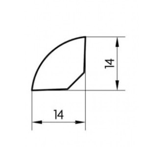 Faneruota grindjuostė, 14x14 2,5m, Pedross
