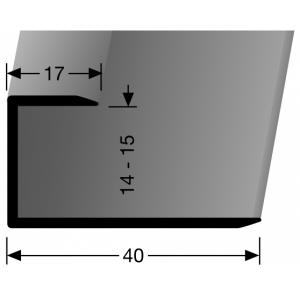 Profilis aliuminis, kraštų užbaigimui BEST 204 U (nepragręžtas), 2,7 m