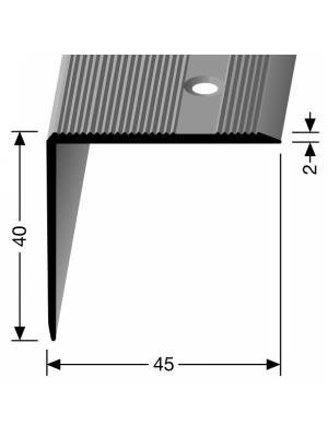 Profilis aliuminis, kampų apdailai BEST 229 ( pragręžt. su varžtais), 2,5 m