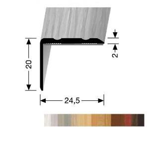 Profilis aliuminis, kampų apdailai BEST 235 H/SK (prisiklijuojantis), 1 m
