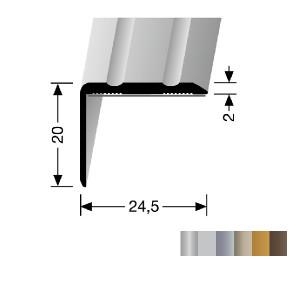 Profilis aliuminis, kampų apdailai BEST 235 SK (prisiklijuojantis), 0,9 m