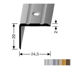 Profilis aliuminis, kampų apdailai BEST 235 (pragręžtas su varžtais), 0,9 m