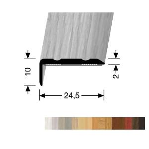 Profilis aliuminis, kampų apdailai BEST 236 H/SK (prisiklijuojantis), 2,7 m