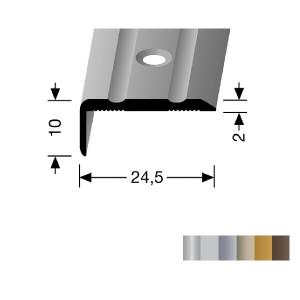 Profilis aliuminis, kampų apdailai BEST 236 (pragręžtas su varžtais), 2,5 m