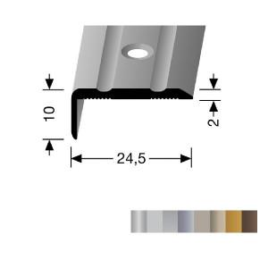 Profilis aliuminis, kampų apdailai BEST 236 (pragręžtas su varžtais), 3 m
