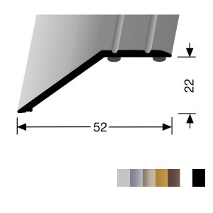 Profilis aliuminis, kraštų užbaigimui BEST 245 SK (prisiklijuojantis), 0,9 m