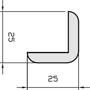 Faneruota grindjuostė, 25x25 2,5m, Pedross