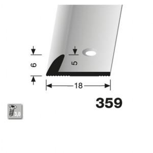 Profilis aliuminis, kraštų užbaigimui BEST 359 (pragręžtas su varžtais), 2,5 m