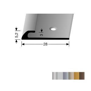 Profilis aliuminis, kraštų užbaigimui BEST 361/3 (pragręžtas su varžtais), 1 m