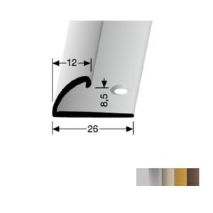 Profilis aliuminis, kraštų užbaigimui BEST 370 (pragręžtas krašte su varžtais), 2,7 m