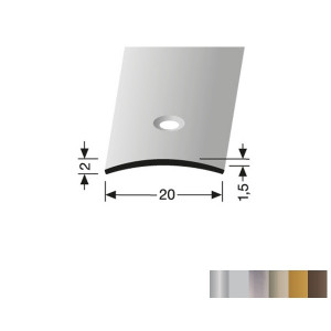 Profilis aliuminis, dangų sujungimui BEST 458 (pragręžtas su varžtais), 0,9 m