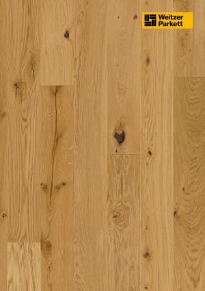Parketlentės Weitzer parkett, natūralus ąžuolas, rustic, 48375, 1800x175x11, 1 juostos, Comfort plank kolekcija