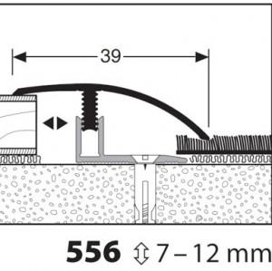 Profilis aliuminis, dangų sujungimui Mono clip 556 7-12mm, 1 m