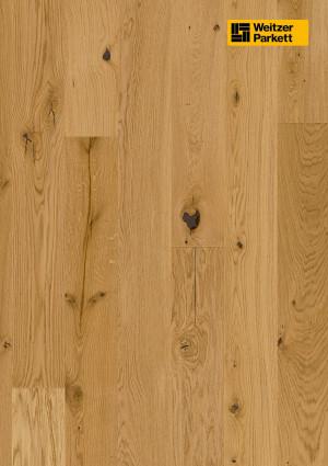 Parketlentės Weitzer parkett, natūralus ąžuolas, rustic, alyva, 57034, 1800x175x11, 1 juostos, Comfort plank kolekcija