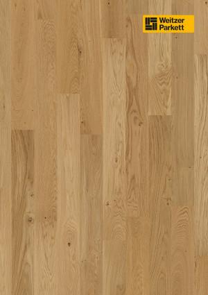 Parketlentės Weitzer parkett, natūralus ąžuolas, lively, 60135, 2245x193x14, 1 juostos, Charisma plank