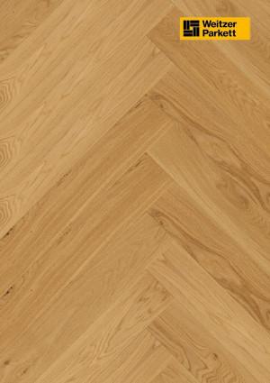 Parketlentė Weitzer parkett, natūralus ąžuolas eglutė 90°, lively, alyva, 63759, 750x125x12,2, 1 juostos, WP475 kolekcija