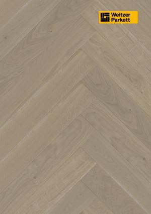 Parketlentė Weitzer parkett, Auster ąžuolas eglutė 90°, lively colourful, alyva, 63762, 750x125x12,2, 1 juostos, WP475 kolekcija