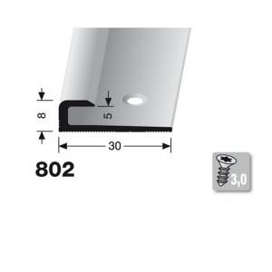 Profilis aliuminis, kraštų užbaigimui BEST 802 (pragręžtas su varžtais), 2,5 m