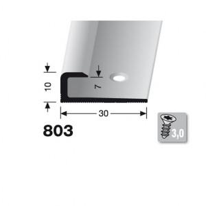 Profilis aliuminis, kraštų užbaigimui BEST 803 (pragręžtas su varžtais), 2,5 m