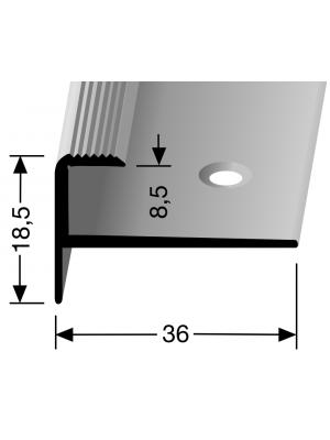 Profilis aliuminis, laiptų apdailai BEST 810, 2,5 m