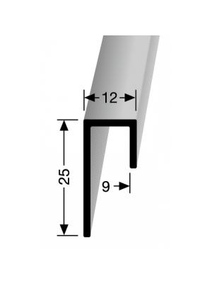 Grindjuostė iš aliuminio 901, kiliminei dangai, 2,5 m