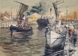 """Sergiy Lysyy / """"Memel"""" / 2017 / popierius, akvarelė / 52,5x73"""