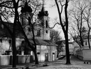 """Kęstutis Stoškus / """"Šv. Kryžiaus (Bonifratų) bažnyčia"""" / 2000 / Autorinis sidabro bromido atspaudas"""