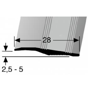 Profilis aliuminis, dangų sujungimui BEST 264 U (nepragręžtas), 2,7 m